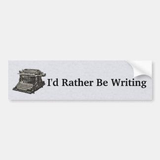 Pegatina Para Coche Máquina de escribir negra pasada de moda para los