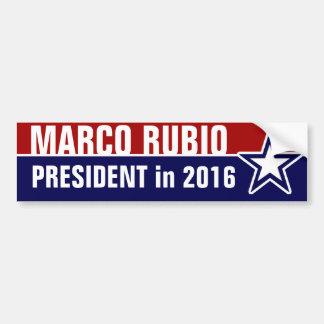 Pegatina Para Coche Marco Rubio en 2016