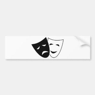 Pegatina Para Coche Máscara de la comedia y de la tragedia