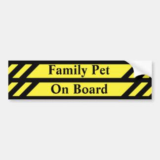 Pegatina Para Coche Mascota de la familia a bordo