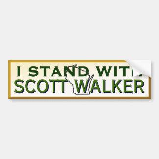 Pegatina Para Coche Me coloco con el caminante de Scott del gobernador