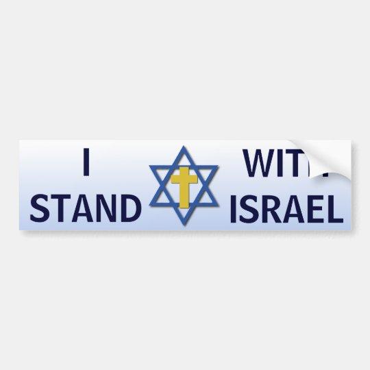 Pegatina Para Coche Me coloco con Israel