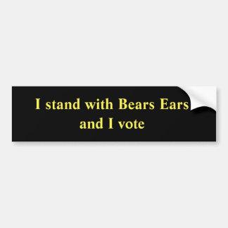 Pegatina Para Coche Me coloco con los oídos de los osos y voto