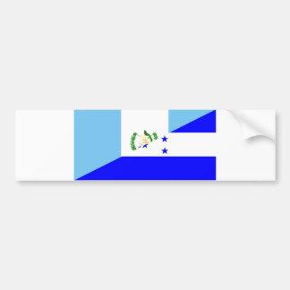 Pegatina Para Coche medio símbolo de la bandera de Guatemala Honduras