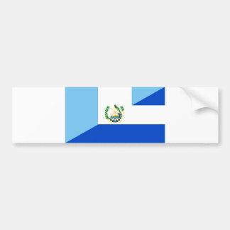 Pegatina Para Coche medio símbolo del país de la bandera de Guatemala