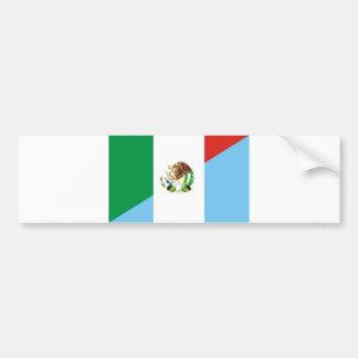 Pegatina Para Coche medio símbolo del país de la bandera de México