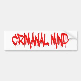 Pegatina Para Coche Mente criminal