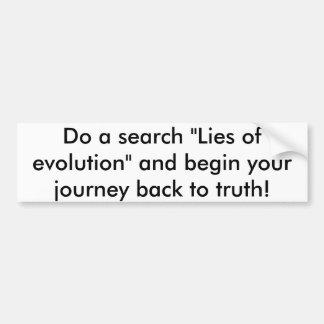 Pegatina Para Coche Mentiras de la evolución