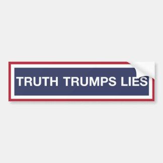 Pegatina Para Coche Mentiras de los triunfos de la verdad