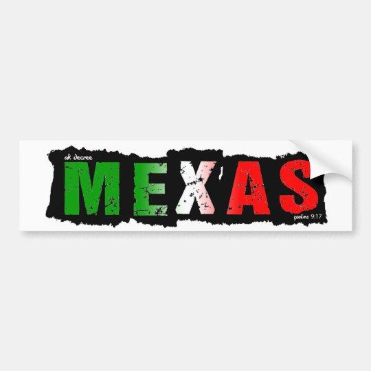 PEGATINA PARA COCHE MEXAS