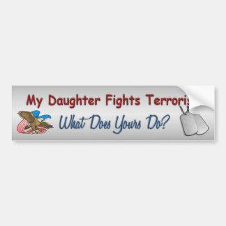 Pegatina Para Coche Mi hija lucha terrorismo