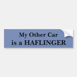 Pegatina Para Coche Mi otro coche es Haflinger