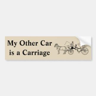 Pegatina Para Coche Mi otro coche es un carro