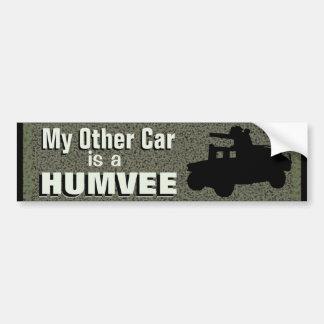 Pegatina Para Coche Mi otro coche es un militar divertido de Humvee
