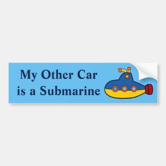Pegatina Para Coche Mi otro coche es un submarino