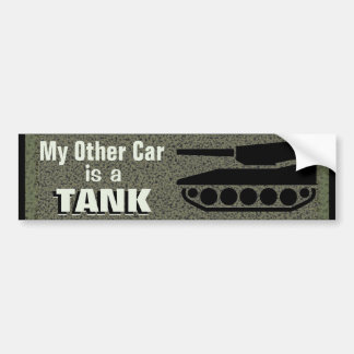 Pegatina Para Coche Mi otro coche es un tanque divertido