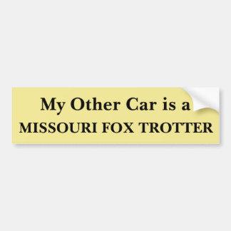 Pegatina Para Coche Mi otro coche es un trotón del Fox de Missouri