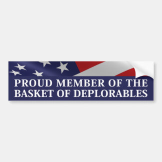 Pegatina Para Coche Miembro orgulloso de la cesta de Deplorables