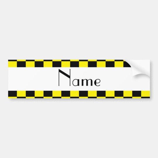 Pegatina Para Coche Modelo a cuadros negro y amarillo