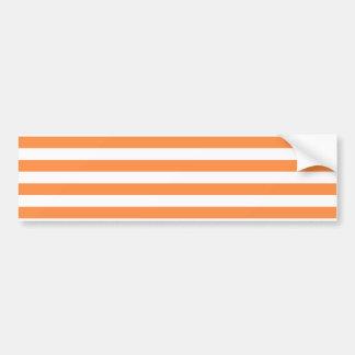 Pegatina Para Coche Modelo anaranjado y blanco de la raya