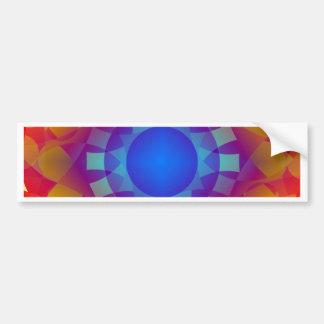 Pegatina Para Coche Modelo azul y anaranjado de Sun