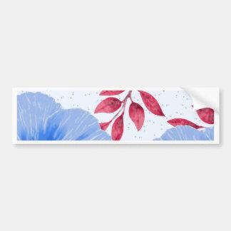 Pegatina Para Coche Modelo de flores hermoso de la amapola azul