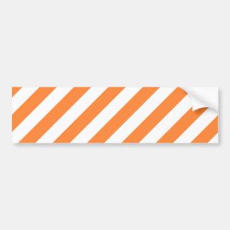 Pegatina Para Coche Modelo diagonal del naranja y blanco de las rayas