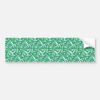 Pegatina Para Coche Modelo tropical de las hojas del monstera verde en