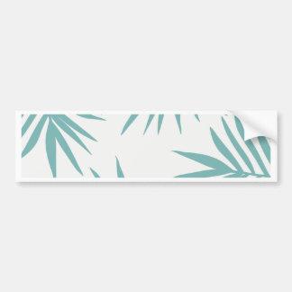 Pegatina Para Coche Modelo tropical verde delicado de las hojas