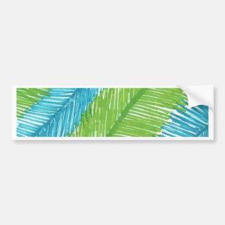 Pegatina Para Coche Modelo verde y azul de las hojas de palma