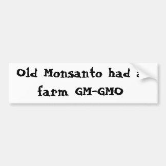 Pegatina Para Coche Monsanto viejo tenía una granja GM-GMO