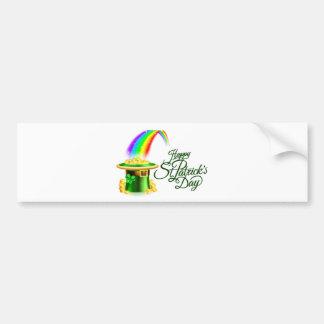 Pegatina Para Coche Muestra feliz del día del St Patricks del arco