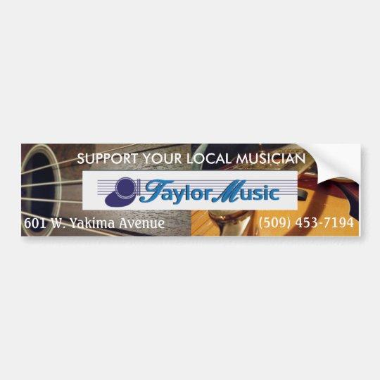Pegatina Para Coche Música de Taylor - apoye a su músico local