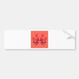 Pegatina Para Coche Naranja del rojo de los elementos del diseño