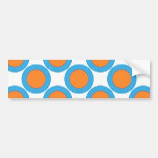 Pegatina Para Coche Naranja en puntos azules