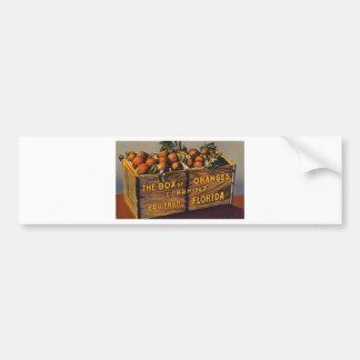 Pegatina Para Coche Naranjas retros de la Florida del vintage