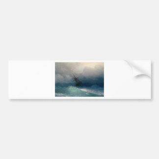 Pegatina Para Coche Nave en los mares tempestuosos, Ivan Aivazovsky -