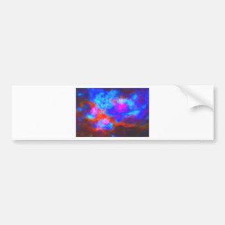 Pegatina Para Coche Nebulosa galáctica abstracta con la nube cósmica