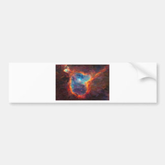 Pegatina Para Coche Nebulosa galáctica abstracta con la nube cósmica 4