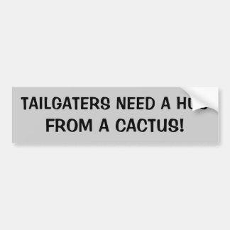 Pegatina Para Coche Necesidad de Tailgaters un abrazo de un cactus
