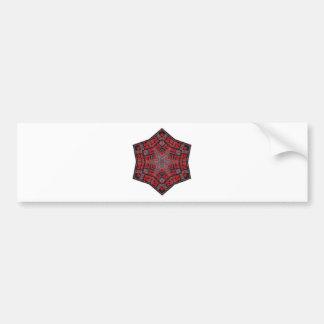 Pegatina Para Coche negro y rojo tribales del diseño del kaleido