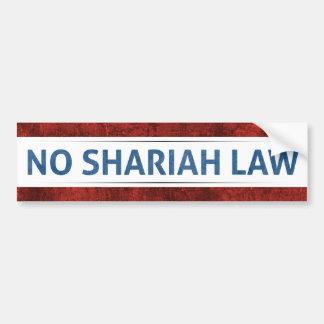 Pegatina Para Coche Ninguna ley de Shariah