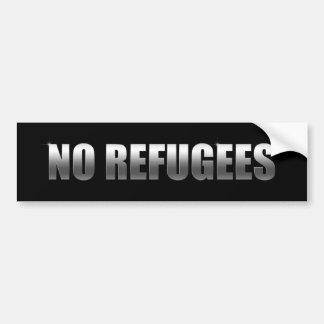 Pegatina Para Coche Ningunos refugiados
