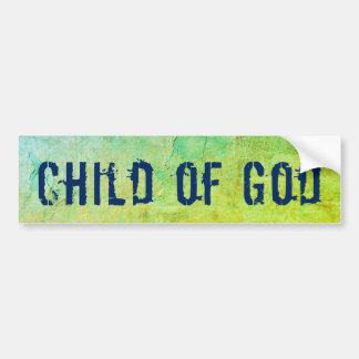 Pegatina Para Coche Niño cristiano de dios