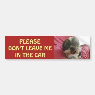 Pegatina Para Coche No deje por favor los perros en un coche caliente