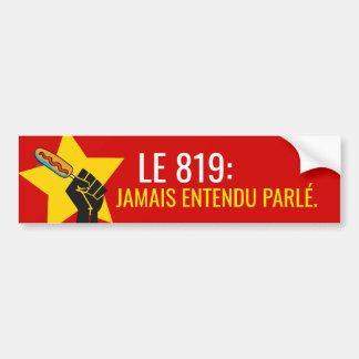 Pegatina Para Coche No el descongelada de cojean humor Quebec