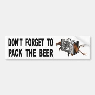 Pegatina Para Coche No olvide embalar la cerveza