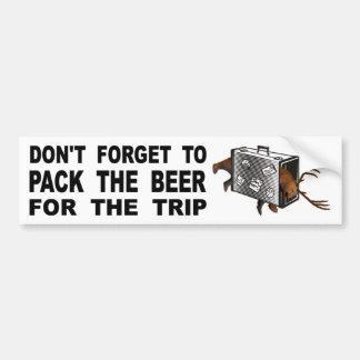 Pegatina Para Coche No olvide embalar la cerveza para el viaje