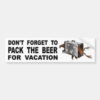 Pegatina Para Coche No olvide embalar la cerveza para las vacaciones
