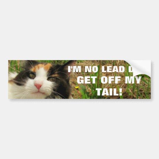 Pegatina Para Coche No soy ningún gato Meme del perro de la ventaja